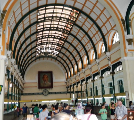 Interior of the Gustave Eiffel (yes, that Eiffel) designed Saigon Central Post Office