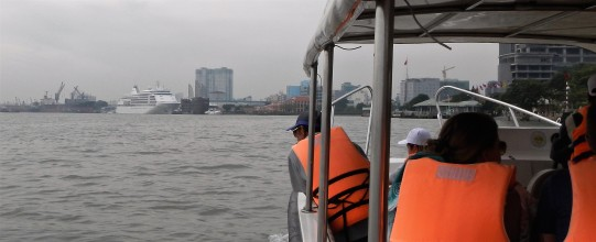 Embarking on the Saigon River